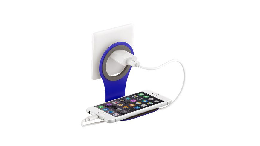 Wireless Charger induktive Ladestation Clock Light 10W White Smartphones Tablets
