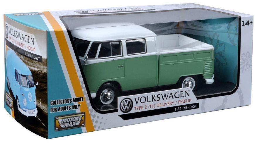 Motor Max VW Typ 2 T1 Doppelkabine 1 24 hellgruen weiss