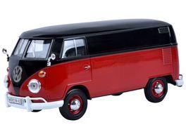 Motor Max VW Typ 2 T1 Lieferwagen 1 24 rot schwarz