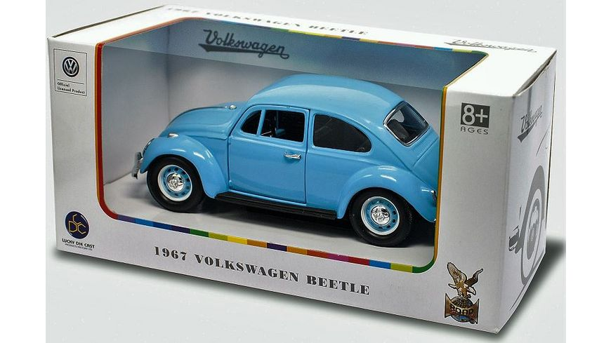 Lucky Die Cast VW Kaefer 1967 1 24 hellblau