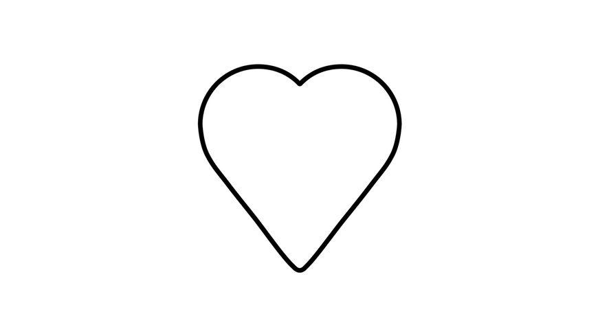 KAISER Ausstechform Herz mittel