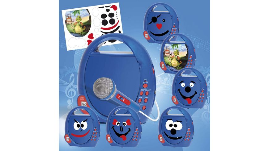 Busch Elektronik fuer Kinder CD Player Boombox blau