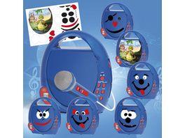 Busch Elektronik fuer Kinder CD Player Boombox blau