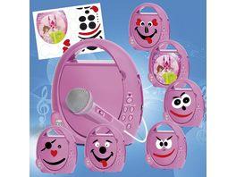 Busch Elektronik fuer Kinder CD Player Boombox pink