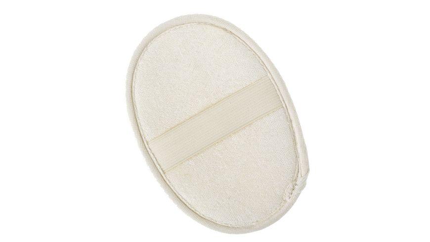 BODY SOUL Massage Pad Natluffa Frottee creme