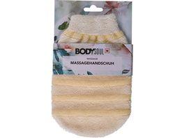 BODY SOUL Massage Handschuhe Baumwolle Nylon creme