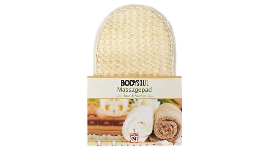 BODY SOUL Massage Pad Natisal Frottee creme