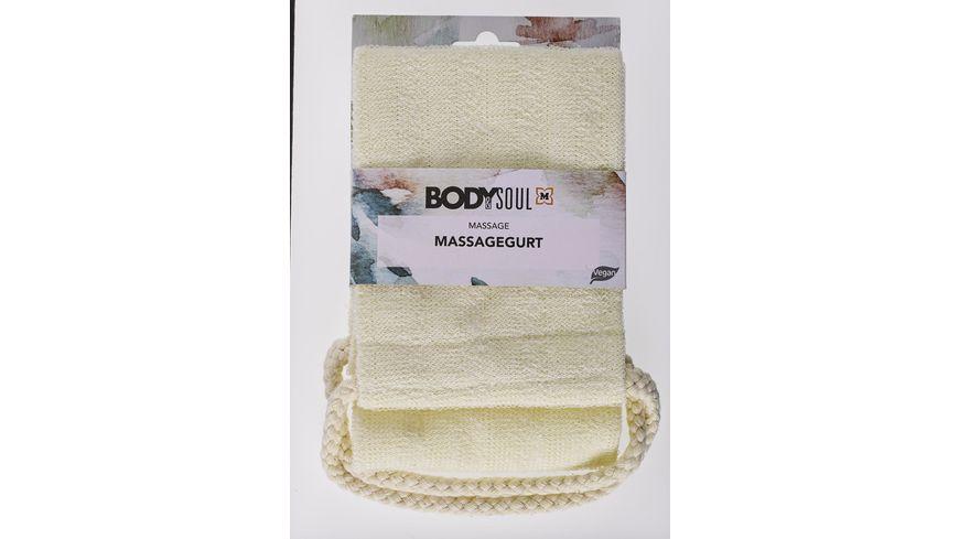 BODY SOUL Massagegurt Nylon creme