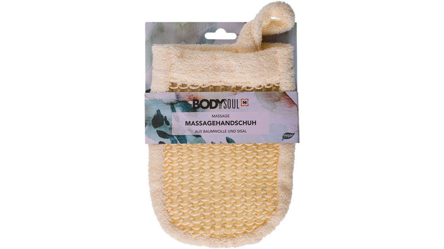 BODY SOUL Massage Hanschuhe Sisal Baumwolle