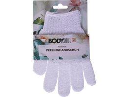BODY SOUL Peeling Handschuhe Nylon weiss