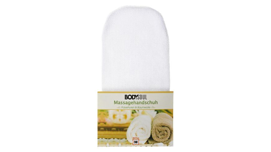 BODY SOUL Massage Handschuhe Nylon weiss