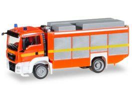 Herpa 091077 002 MAN TGS M Euro 6 Ruestwagen RW2 leuchrot Feuerwehr