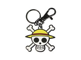 One Piece Skull Luffy Metall Schluesselanhaenger