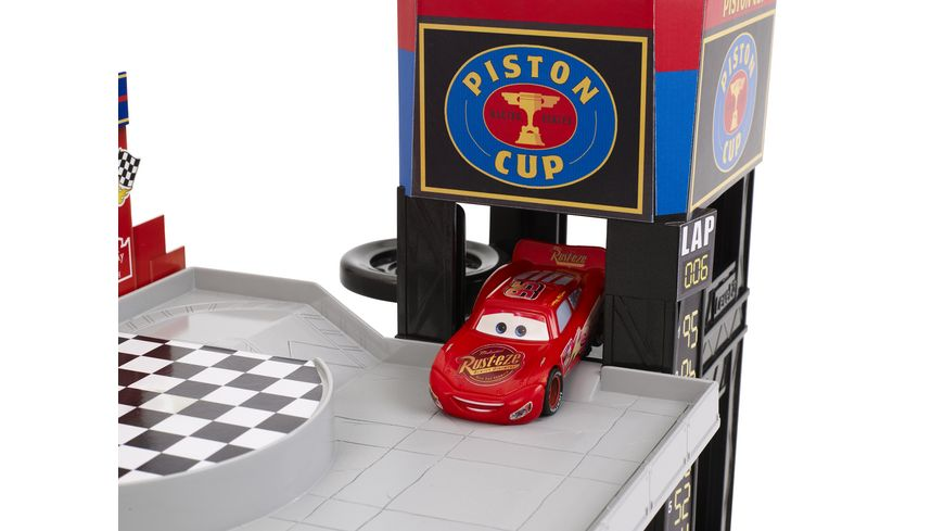 Mattel Cars Rennbahn Parkhaus