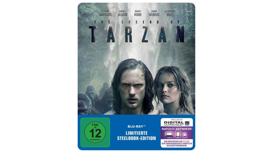 Legend of Tarzan exklusives Mueller Steelbook Blu ray Disc