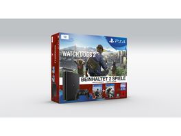 PS4 Konsole 1 TB mit Watch Dogs 2