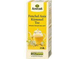 Alnatura Fenchel Anis Kuemmel Tee 20 Beutel