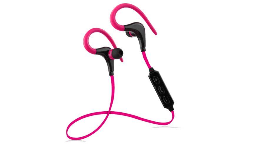 Sport Beat Bluetooth In Ear Kopfhoerer pink