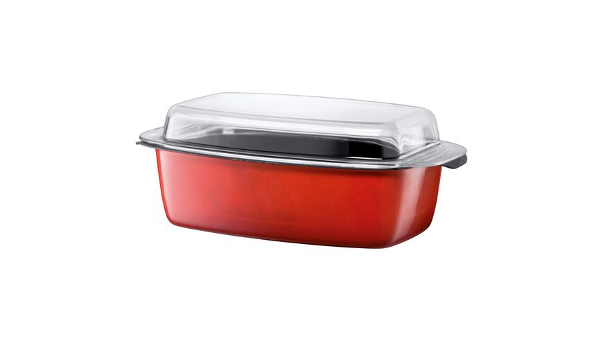 Silit Schlemmerkasserolle mit Deckel Energy Red 32 cm