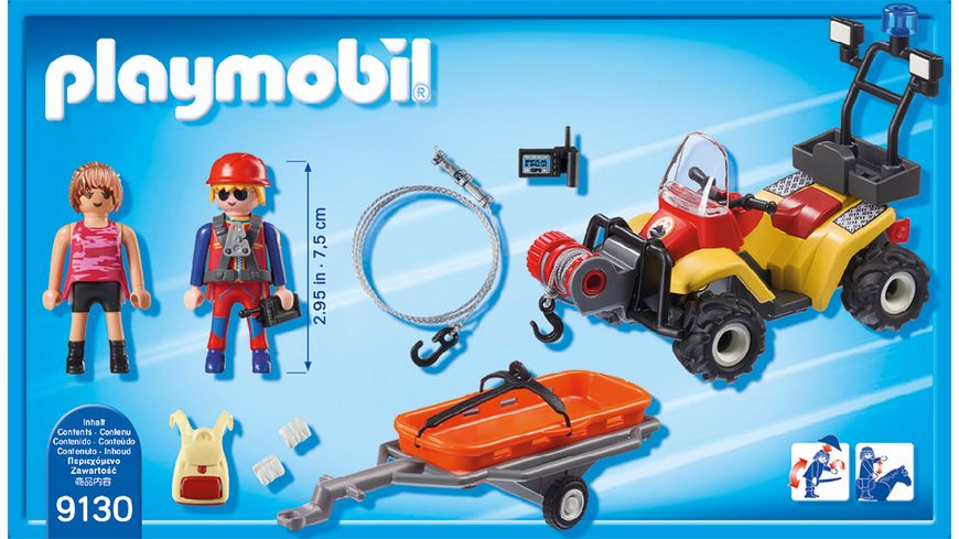 PLAYMOBIL 9130 Action Bergretter Quad