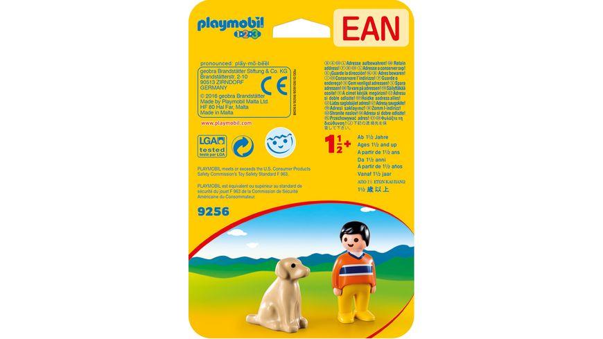 PLAYMOBIL 9256 1 2 3 Mann mit Hund