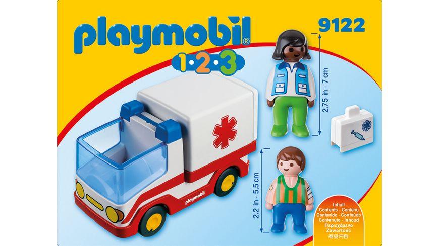 PLAYMOBIL 9122 1 2 3 Rettungswagen