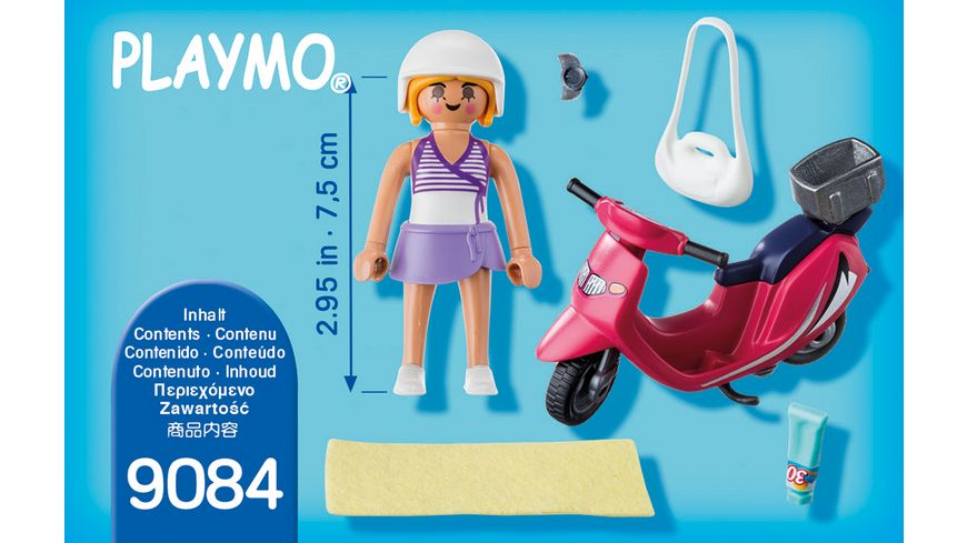 PLAYMOBIL 9084 Special Plus Strand Girl mit Roller