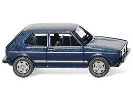 Wiking 004502 VW Golf I GTI heliosblau met 1 87
