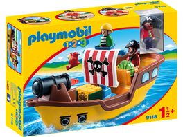 PLAYMOBIL 9118 1 2 3 Piratenschiff
