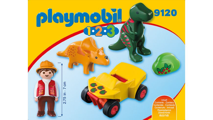 PLAYMOBIL 9120 1 2 3 Dinoforscher mit Quad