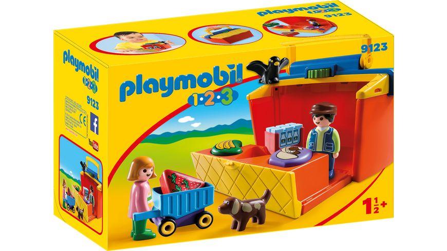 PLAYMOBIL 9123 1 2 3 Mein Marktstand zum Mitnehmen