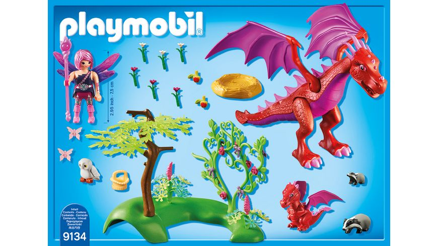 PLAYMOBIL 9134 Fairies Drachenmama mit Baby