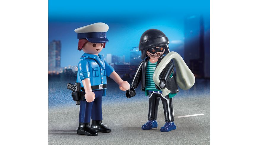 PLAYMOBIL 9218 City Action Duo Pack Polizist und Langfinger