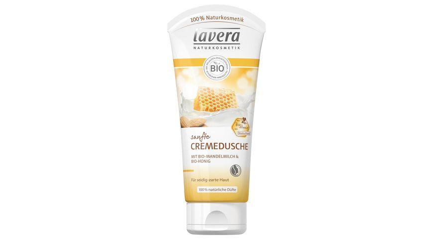 lavera Sanfte Cremedusche Bio Mandelmilch Bio Honig
