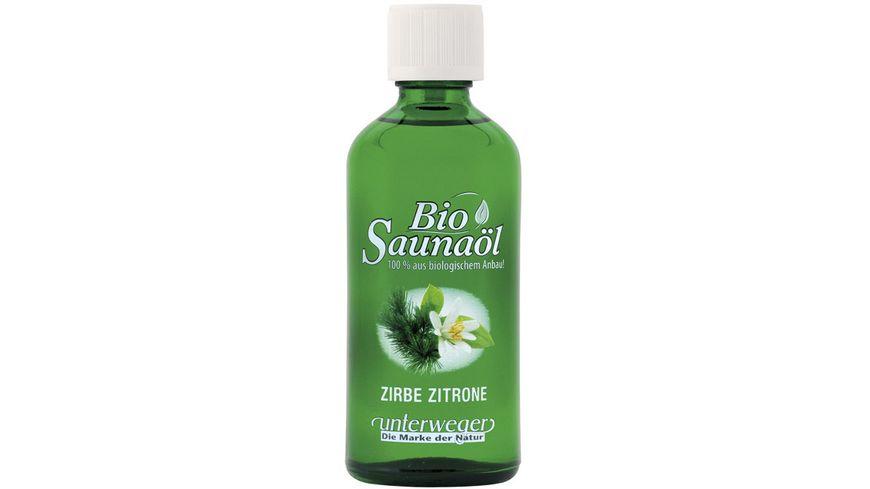 unterweger Bio Saunaoel Zirbe Zitrone