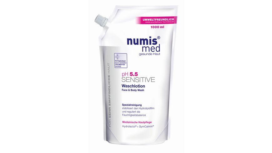 numis med PH 5 5 Waschlotion Sensitive Nachfuellbeutel
