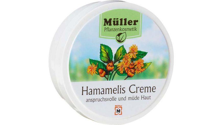 Mueller Pflanzenkosmetik Creme Hamamelis