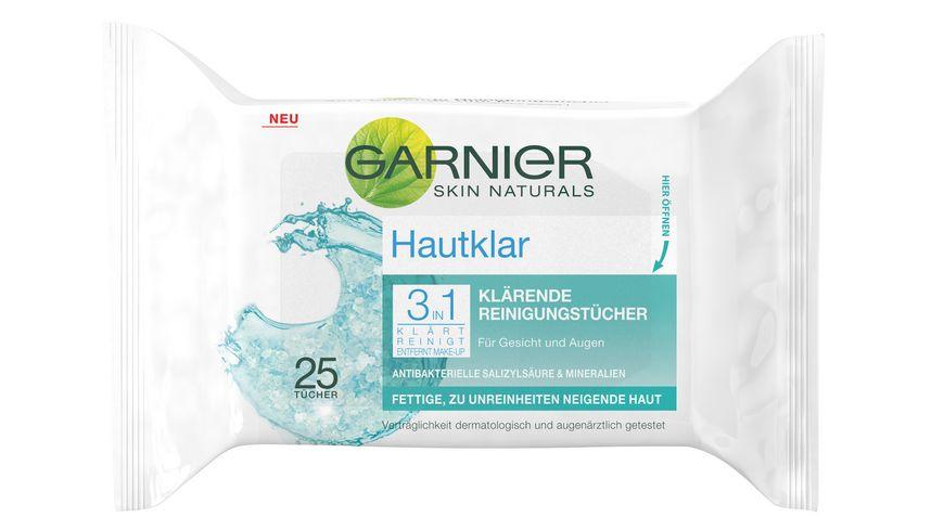 GARNIER Hautklar 3in1 Reinigungstuecher
