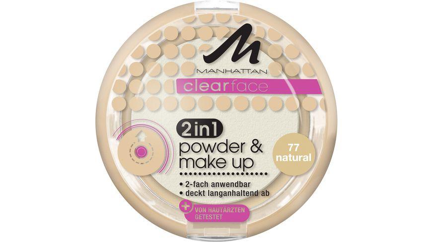 MANHATTAN Clearface 2in1 Powder & Makeup Natural 77