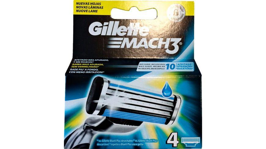 Gillette Klingen Mach3 4 Stueck