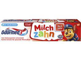 Odol med3 Zahncreme Milchzahn 2 5 Jahre