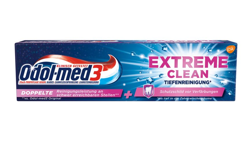 Odol med3 Zahncreme Extreme Clean Tiefenreinigung