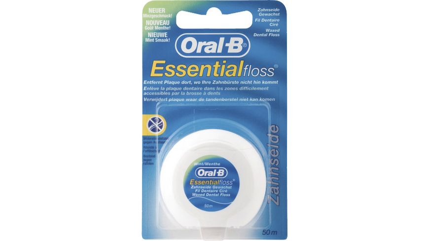 Oral B Zahnseide Essential Floss Gewachst Mint
