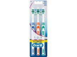 Oral B CLASSIC CARE Zahnbuerste 1 2 3 35 mittel 2 1 Pack