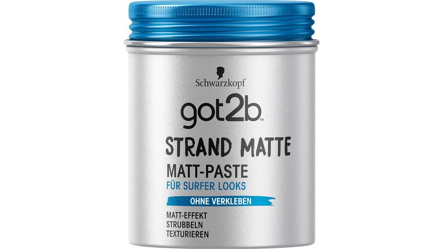 Schwarzkopf got2b Matt Paste Strand Matte surfer look
