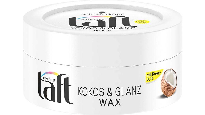 Schwarzkopf 3 WETTER taft Wax Kokos Glanz Extra Starker Halt