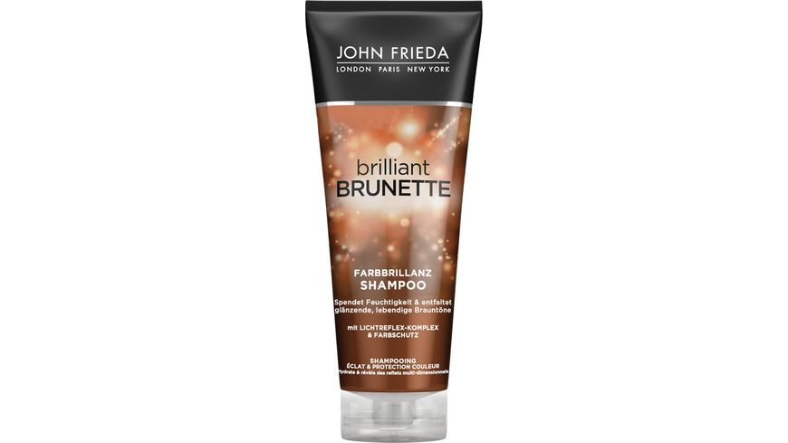 JOHN FRIEDA brilliant BRUNETTE Shampoo feuchtigkeitsspendend Multidimensional Tones