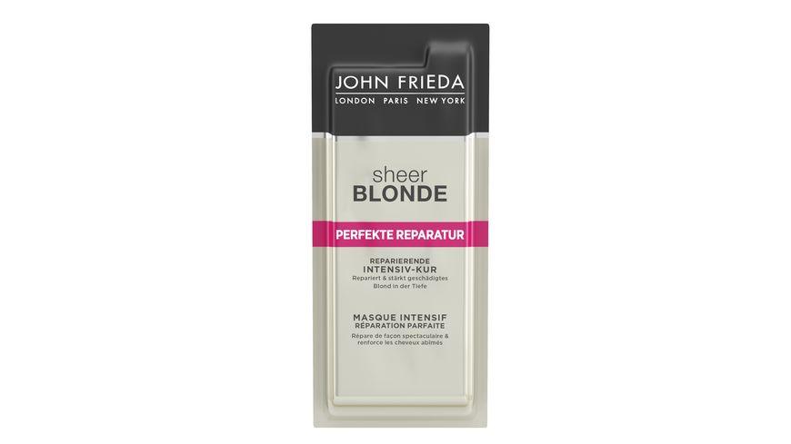 JOHN FRIEDA Sheer Blonde Perfekte Reparatur Reparierende Intensiv Kur Sachet