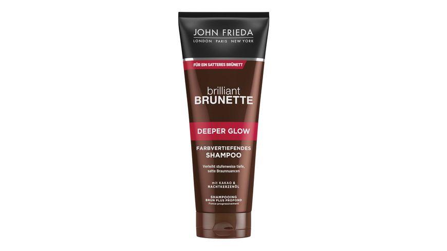 JOHN FRIEDA brilliant BRUNETTE Shampoo farbvertiefend Deeper Glow