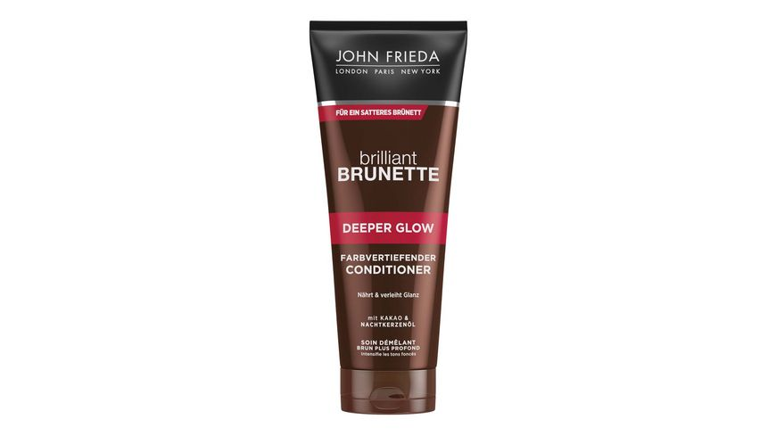 JOHN FRIEDA brilliant BRUNETTE Conditioner farbvertiefend Deeper Glow